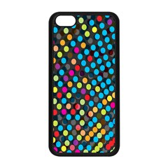 Polkadot Rainbow Colorful Polka Circle Line Light Apple Iphone 5c Seamless Case (black) by Mariart