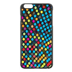 Polkadot Rainbow Colorful Polka Circle Line Light Apple Iphone 6 Plus/6s Plus Black Enamel Case by Mariart