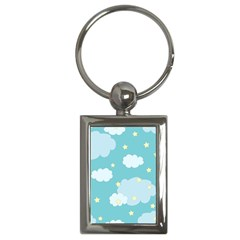 Stellar Cloud Blue Sky Star Key Chains (rectangle)