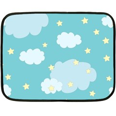 Stellar Cloud Blue Sky Star Fleece Blanket (mini)