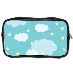 Stellar Cloud Blue Sky Star Toiletries Bags