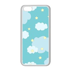 Stellar Cloud Blue Sky Star Apple Iphone 5c Seamless Case (white) by Mariart