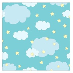 Stellar Cloud Blue Sky Star Large Satin Scarf (square) by Mariart