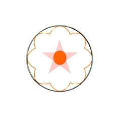 Test Flower Star Circle Orange Hat Clip Ball Marker (4 Pack) by Mariart