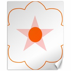 Test Flower Star Circle Orange Canvas 16  X 20   by Mariart