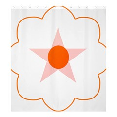 Test Flower Star Circle Orange Shower Curtain 66  X 72  (large)  by Mariart