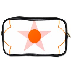 Test Flower Star Circle Orange Toiletries Bags by Mariart