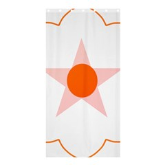 Test Flower Star Circle Orange Shower Curtain 36  X 72  (stall)  by Mariart