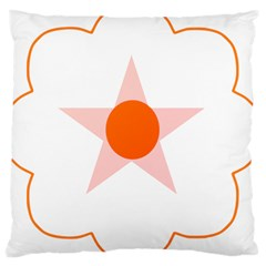 Test Flower Star Circle Orange Large Cushion Case (two Sides) by Mariart