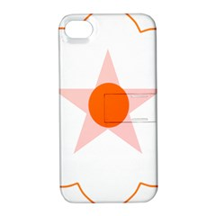 Test Flower Star Circle Orange Apple Iphone 4/4s Hardshell Case With Stand by Mariart