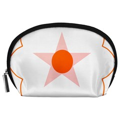 Test Flower Star Circle Orange Accessory Pouches (large)  by Mariart
