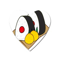 Sushi Food Japans Heart Magnet