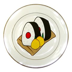 Sushi Food Japans Porcelain Plates by Mariart