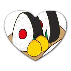Sushi Food Japans Heart Mousepads by Mariart