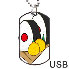 Sushi Food Japans Dog Tag Usb Flash (two Sides) by Mariart