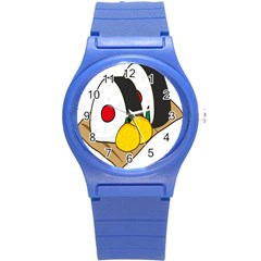 Sushi Food Japans Round Plastic Sport Watch (s) by Mariart