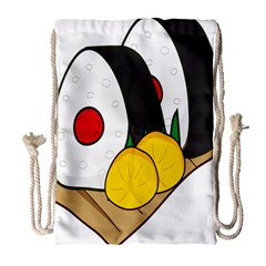 Sushi Food Japans Drawstring Bag (large) by Mariart