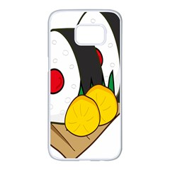 Sushi Food Japans Samsung Galaxy S7 Edge White Seamless Case by Mariart