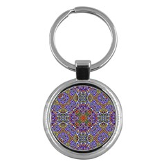 Oriental Pattern 01a Key Chains (round)  by MoreColorsinLife