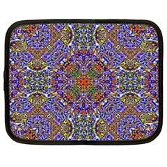 Oriental Pattern 01a Netbook Case (xl)  by MoreColorsinLife