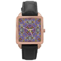 Oriental Pattern 01a Rose Gold Leather Watch  by MoreColorsinLife