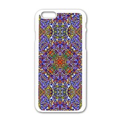 Oriental Pattern 01a Apple Iphone 6/6s White Enamel Case by MoreColorsinLife
