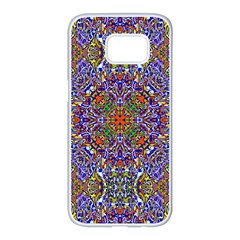 Oriental Pattern 01a Samsung Galaxy S7 Edge White Seamless Case by MoreColorsinLife