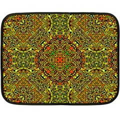 Oriental Pattern 01b Double Sided Fleece Blanket (mini)  by MoreColorsinLife