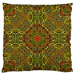 Oriental Pattern 01b Large Flano Cushion Case (two Sides) by MoreColorsinLife