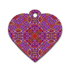 Oriental Pattern 01c Dog Tag Heart (two Sides) by MoreColorsinLife