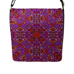 Oriental Pattern 01c Flap Messenger Bag (l)  by MoreColorsinLife