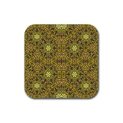 Oriental Pattern 02a Rubber Square Coaster (4 Pack)  by MoreColorsinLife