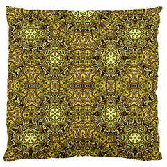 Oriental Pattern 02a Large Flano Cushion Case (one Side) by MoreColorsinLife