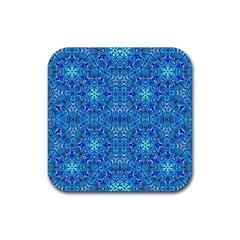 Oriental Pattern 02b Rubber Square Coaster (4 Pack)  by MoreColorsinLife