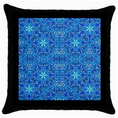 Oriental Pattern 02b Throw Pillow Case (black) by MoreColorsinLife