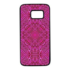 Oriental Pattern 02c Samsung Galaxy S7 Black Seamless Case by MoreColorsinLife