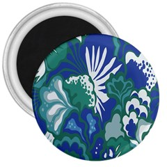 Tropics Leaf Bluegreen 3  Magnets by Mariart