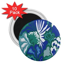 Tropics Leaf Bluegreen 2 25  Magnets (10 Pack)  by Mariart
