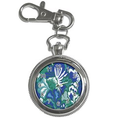 Tropics Leaf Bluegreen Key Chain Watches by Mariart