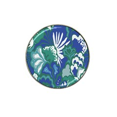 Tropics Leaf Bluegreen Hat Clip Ball Marker (10 Pack) by Mariart