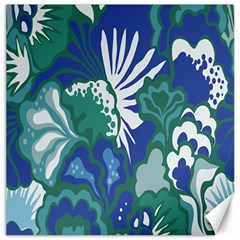 Tropics Leaf Bluegreen Canvas 16  X 16   by Mariart