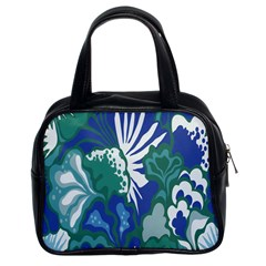 Tropics Leaf Bluegreen Classic Handbags (2 Sides) by Mariart
