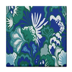 Tropics Leaf Bluegreen Face Towel by Mariart