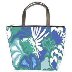 Tropics Leaf Bluegreen Bucket Bags by Mariart