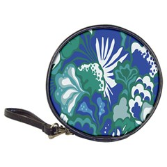 Tropics Leaf Bluegreen Classic 20 Cd Wallets by Mariart