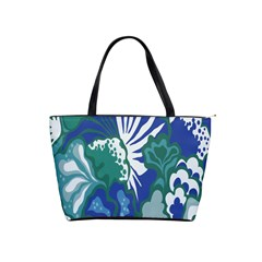 Tropics Leaf Bluegreen Shoulder Handbags by Mariart