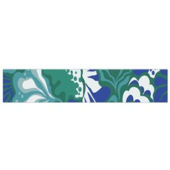 Tropics Leaf Bluegreen Flano Scarf (small) by Mariart