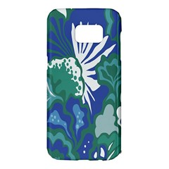 Tropics Leaf Bluegreen Samsung Galaxy S7 Edge Hardshell Case by Mariart