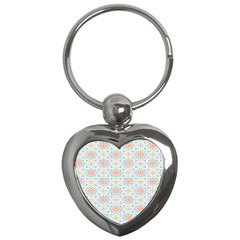 Star Sign Plaid Key Chains (heart)  by Mariart