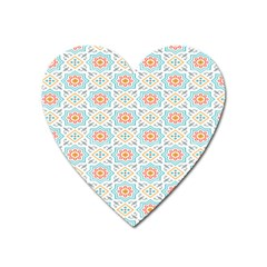 Star Sign Plaid Heart Magnet by Mariart